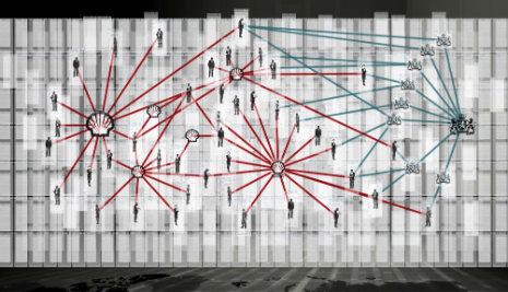 Shell Search: visualizing the connection between people, companies, places and times. Image credit: http://tegenlicht.vpro.nl/nieuws/2013/oktober/powermap.html