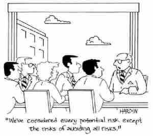 Risk of avoiding all risks
