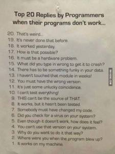 20replies by programers