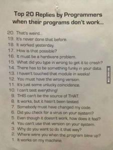 20replies by programers
