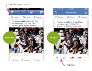 Hamburger menu FB