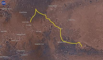 'The Martian' track in Mars Trek